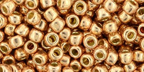 Toho Seed Beads 6/0 Perm Fin Galvanized Rose Gold 7g
