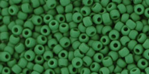 Toho Seed Beads 11/0 #480 Opaque Frosted Pine Green 50g