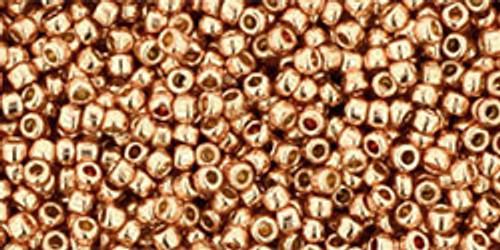 Toho Seed Beads 15/0 Perm Fin Galvanized Rose Gold 50g