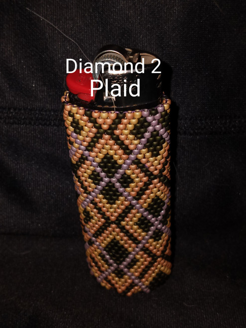Toho Seed Bead 11/0 PF557F, PF551F, 617 and PF554F woven with Toho One G thread.