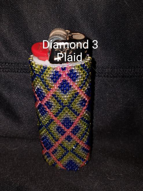 Toho Seed Bead 11/0 29AF, 28, 24 and 2201 woven with Toho One G thread.