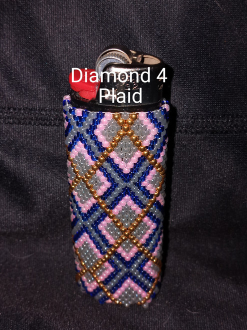 Toho Seed Bead 11/0 909, 150, 8 and PF591 woven with Toho One G thread.