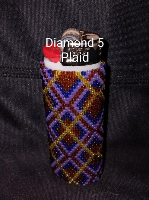 Toho Seed Bead 11/0 YPS0023, 12, 8 and 941 woven with Toho One G thread.