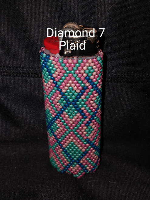 Toho Seed Bead 11/0 PF584F, PF552F, PF553F and PF561F woven with Toho One G thread.