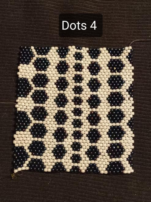 Toho Seed Bead 11/0 401 and 82 woven with Toho One G thread.