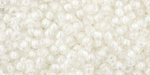 Toho Seed Beads 11/0 Rounds In-Rainbow Crystal/Creme Lined