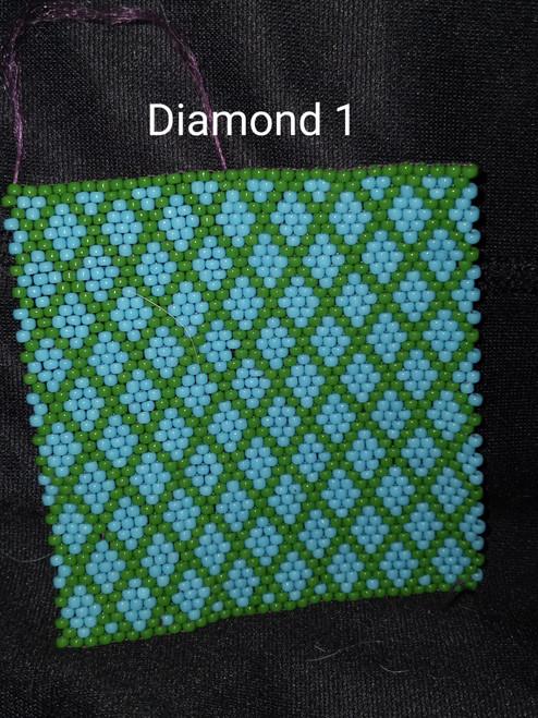 Toho Seed Bead 11/0 43 and 47 woven with Toho One G thread.