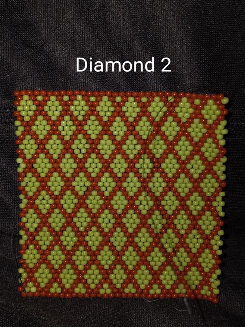 Toho Seed Bead 11/0 44 and 46L woven with Toho One G thread.