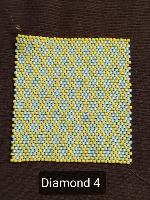 Toho Seed Bead 11/0 PF2108 and 44 woven with Toho One G thread.