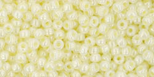 Toho Seed Beads 11/0 Rounds Ceylon Lemon Chiffon