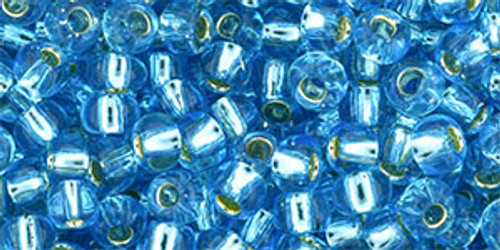 Toho Seed Beads 6/0 #99 Silver Lined Aquamarine 250g