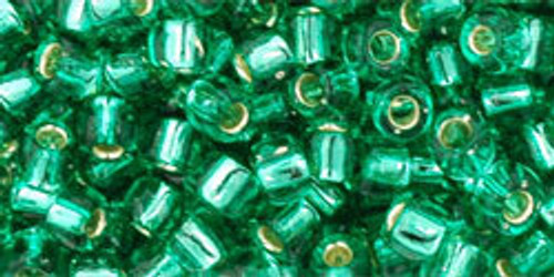 Toho Seed Beads 6/0 #102 Silver Lined Dark Peridot 20g