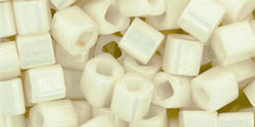 Toho Seed Beads 4mm Cube Opaque Lustrous Navajo White 7g