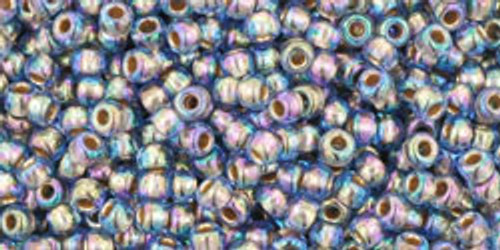 Toho Seed Beads 11/0 Rounds Gold-Lined Rainbow Light Sapphire