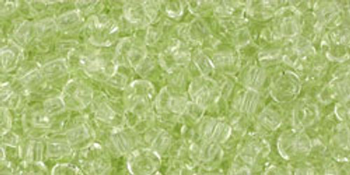 Toho Seed Beads 8/0 Rounds Transparent Citrus Spritz