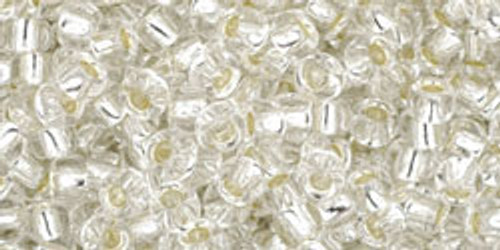 Toho Seed Beads 8/0 Rounds Silver-Lined Crystal