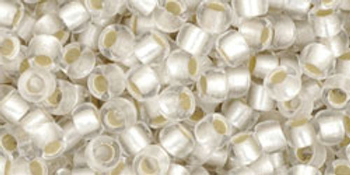Toho Seed Beads 8/0 Rounds Silver-Lined Frosted Crystal