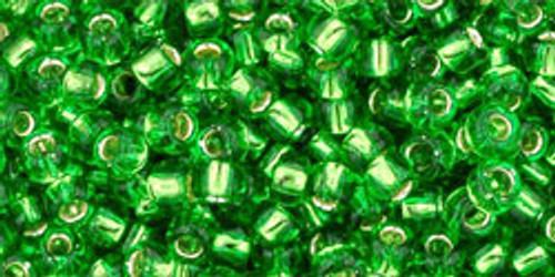 Toho Seed Beads 8/0 Rounds Silver-Lined Peridot