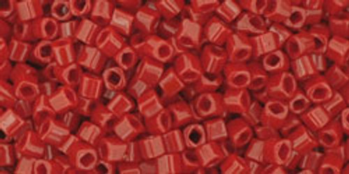 Toho Seed Beads Cubes 1.5mm Opaque Pepper Red