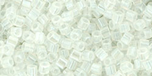 Toho Seed Beads Cubes 1.5 mm Transparent-Rainbow Crystal