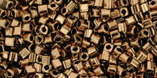 Toho Seed Beads Cubes 1.5mm Bronze