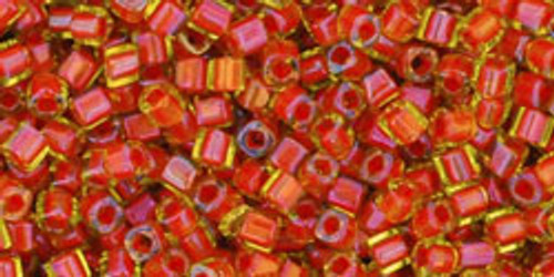 Toho Seed Beads Cubes 1.5mm Inside-Color Jonquil/Hyacinth Lined