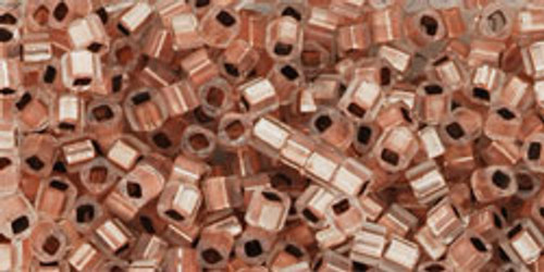 Toho Seed Beads Cubes 1.5mm Copper-Lined Alabaster