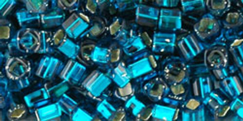 Toho Seed Beads Cubes 3mm Silver-Lined Teal