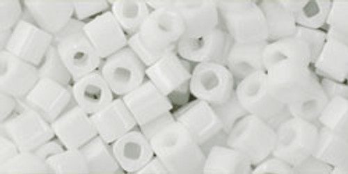 Toho Seed Beads Cubes 3mm Opaque White