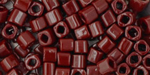 Toho Seed Beads Cubes 3mm Opaque Oxblood