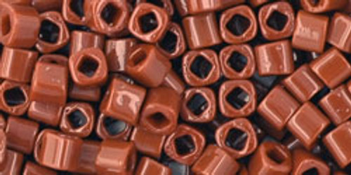 Toho Seed Beads Cubes 3mm Opaque Terra Cotta