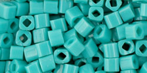 Toho Seed Beads Cubes 3mm Opaque Turquoise