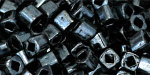 Toho Seed Beads Cubes 3mm Metallic Hematite