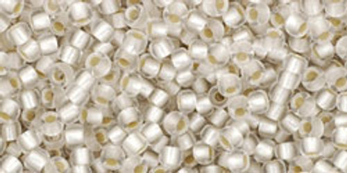 Toho Seed Beads 11/0 Rounds Silver-Lined Frosted Crystal