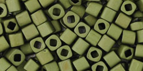 Toho Seed Beads Cubes 3mm Matte-Color Dark Olive