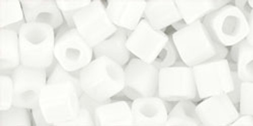 Toho Seed Beads Cubes 4mm Opaque White