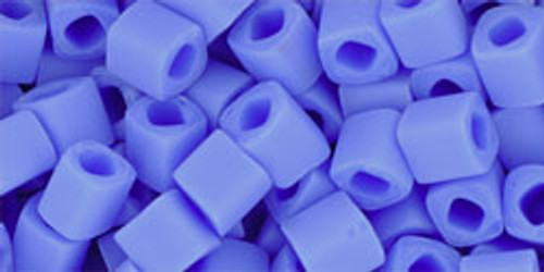Toho Seed Beads Cubes 4mm Opaque-Frosted Periwinkle