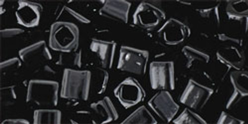 Toho Seed Beads Cubes 4mm Opaque Jet
