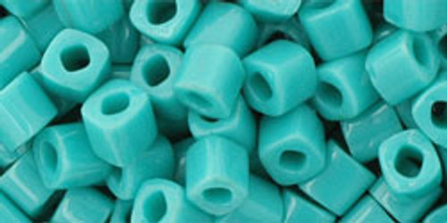 Toho Seed Beads Cubes 4mm Opaque Turquoise