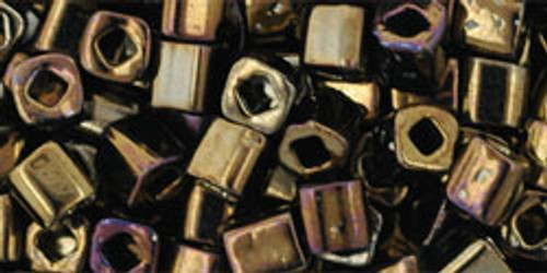 Toho Seed Beads Cubes 4mm Metallic Iris Brown