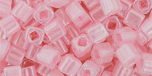 Toho Seed Beads Cubes 4mm Ceylon Innocent Pink