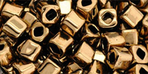 Toho Seed Beads Cubes 4mm Bronze