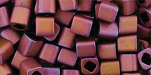 Toho Seed Beads Cubes 4mm Matte-Color Mauve Mocha