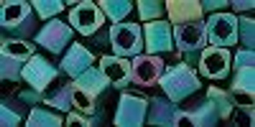 Toho Seed Beads Cubes 4mm Matte-Color Iris Teal