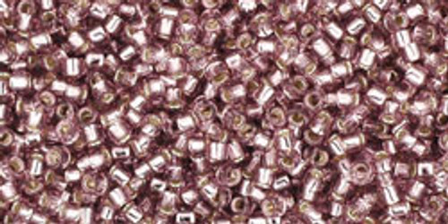 Toho Seed Beads 15/0 Rounds Silver-Lined Light Amethyst