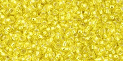 Toho Seed Beads 15/0 Rounds Silver-Lined Lemon 9 gram TR-15-32