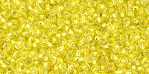 Toho Seed Beads 15/0 Rounds Silver-Lined Lemon 9 gram TR-15-32