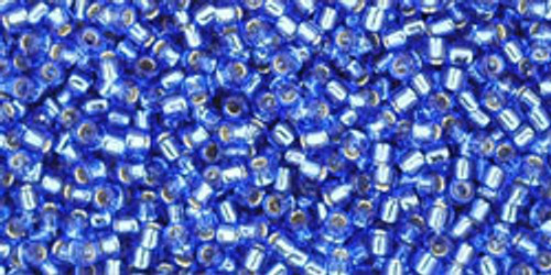 Toho Seed Beads 15/0 Rounds Silver-Lined Sapphire