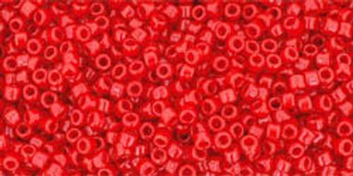 Toho Seed Beads 15/0 Rounds Opaque Cherry