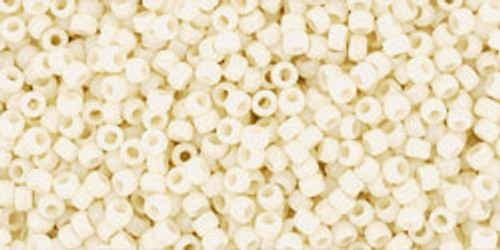 Toho Seed Beads 15/0 Rounds Opaque Light Beige